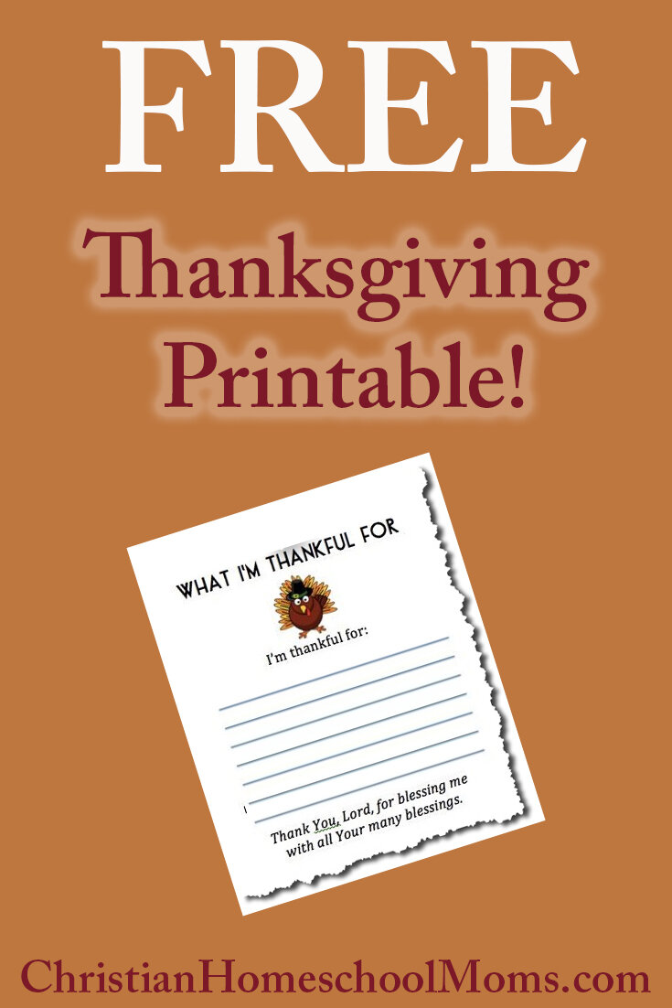 Kids' Gratitude, And a Thanksgiving Printable Just For You!